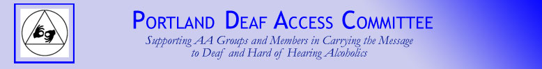 Portland Deaf Access Committee banner