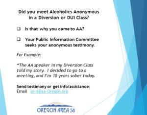 Seeking Testimonials flyer